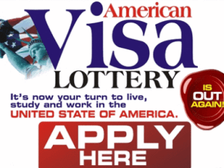 America Visa Lottery Application Form 2018/2019 - How To Apply