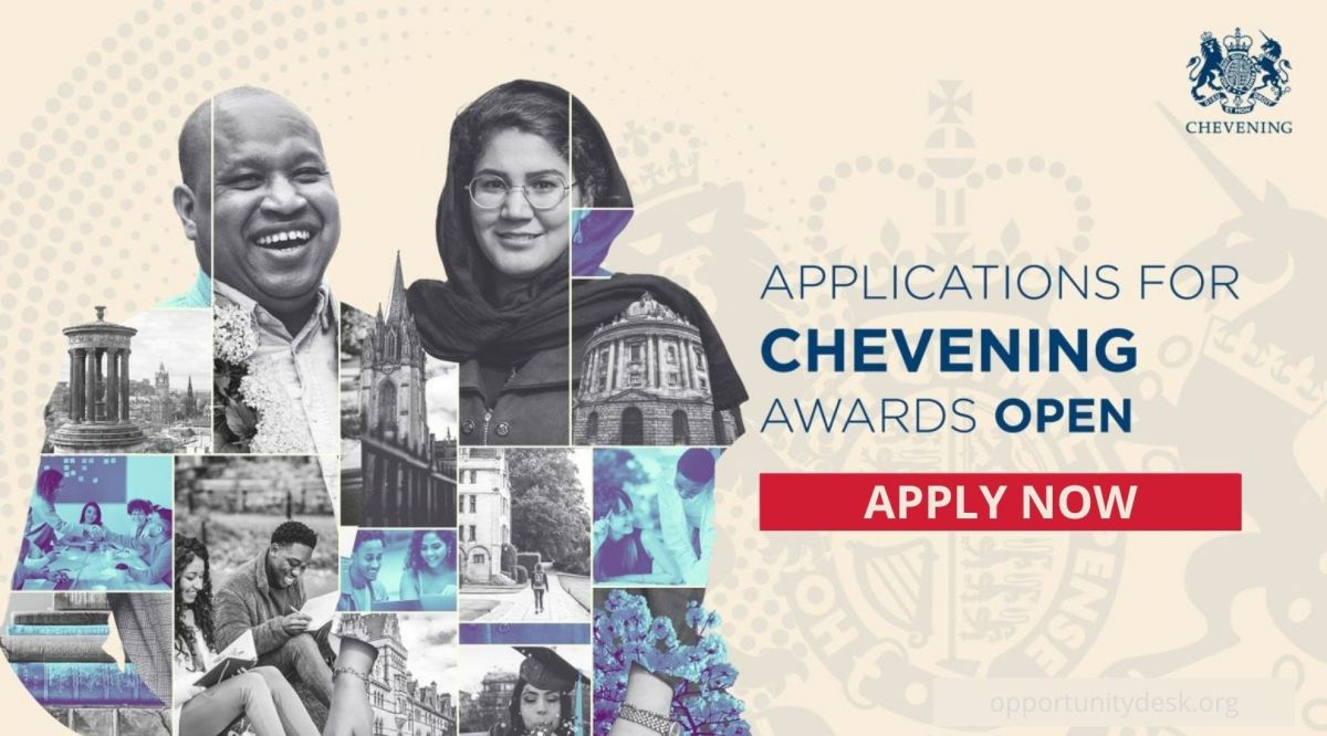 Apply: Chevening UK Government Scholarship to Study in the UK 2022/2023 (Fully-funded)