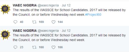 2017 waec result release date