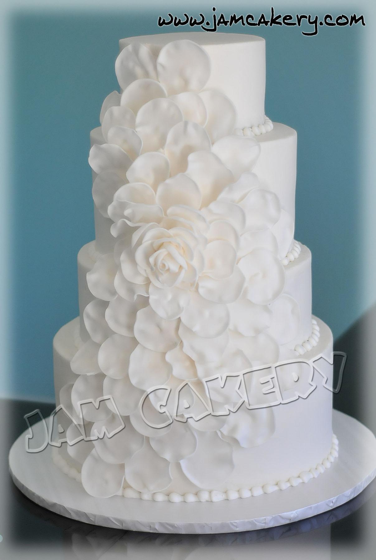 Petal Wedding Cake  JAM Cakery