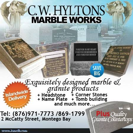 island for kitchen sale led ceiling lights c.w. hylton marble works headstones – jamaican classifieds