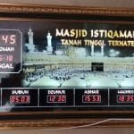 Jam digital jadwal sholat Situbondo, jual jam digital running text murah