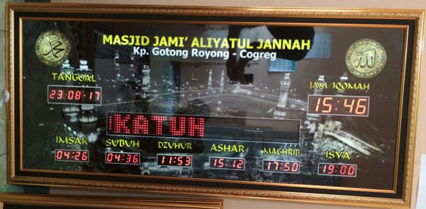 Jam Digital Masjid Area Karawang
