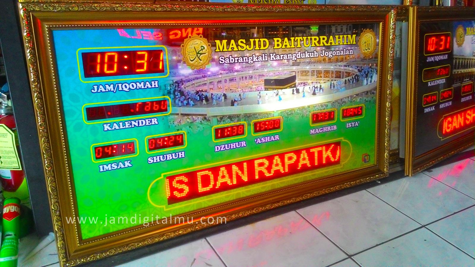 Jam Masjid Digital Termurah di Indonesia