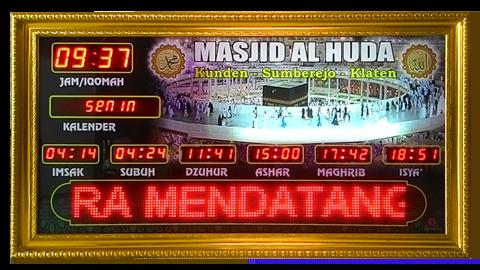 toko jam digital masjid