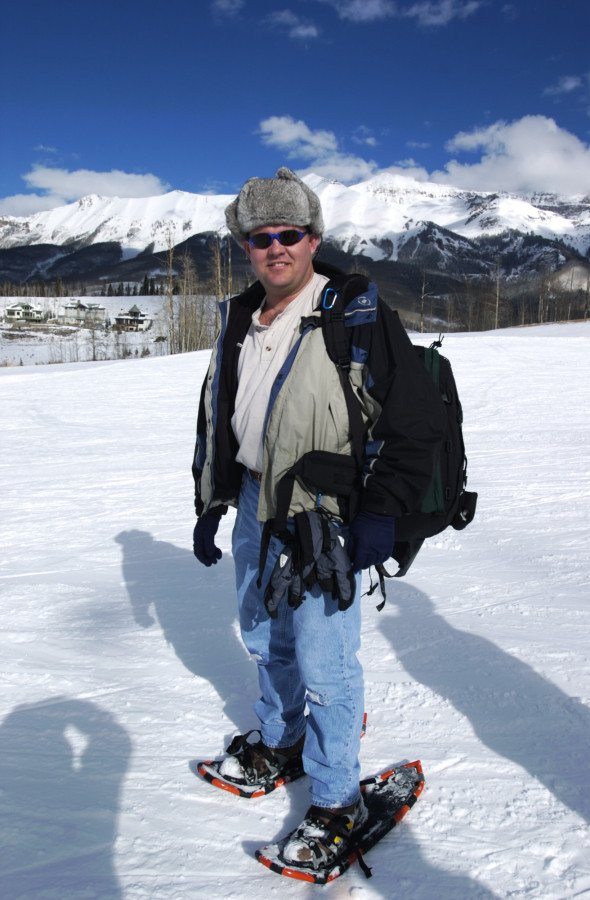 One one of our many family ski trips to Telluride, Colorado, I decided to wear snowshoes and take photos instead of ski.