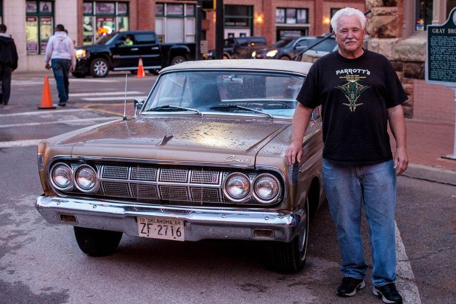 My good friend Gary Miller with one of his many beautiful restored cars - this one a 1964 Mercury Comet.