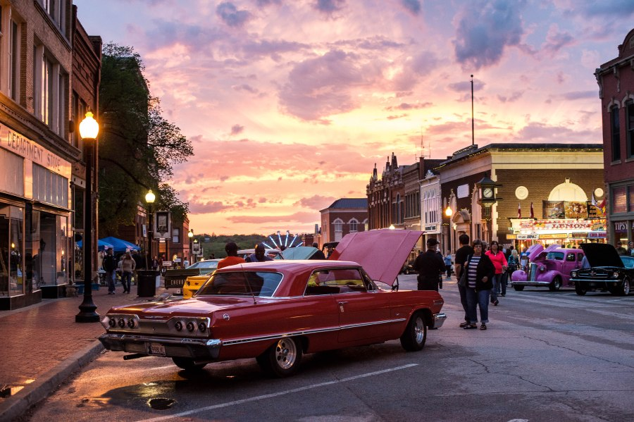 """The sun was setting on the car show so I had only a few minutes to grab something with this beautiful light. I told Kay """"give me 5 minutes, I gotta get SOMETHING with this awesome sunset."""" She gave me 5 minutes and the rest of the evening I spent enjoying her company rather than fiddling with my camera."""