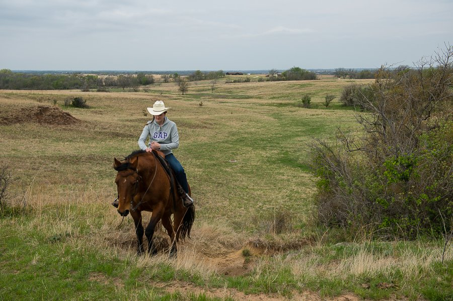 Gerald and Erika Halverstreng story about their guest ranch Halverstreng Guest Ranch for Oklahoma Today story by Sheila Bright.