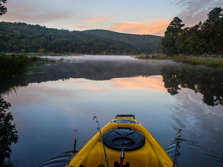 Fishing at Clayton Lake State Park