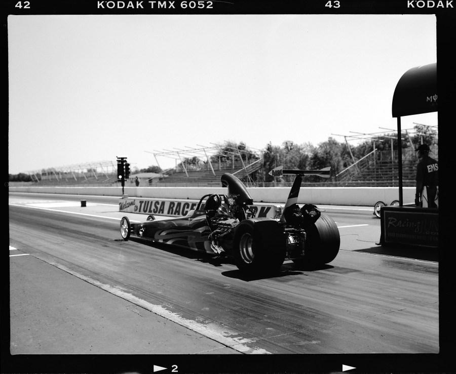 Drag racing at Tulsa Raceway Park