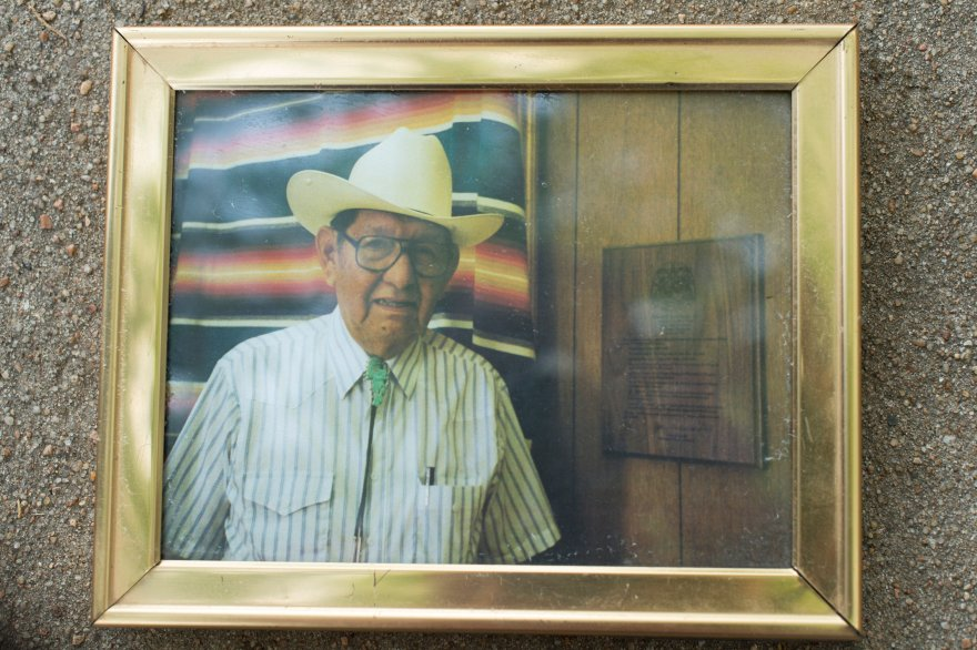 Eddy Red Eagle's father was a farmer and rancher on the same land where Eddie lives today.
