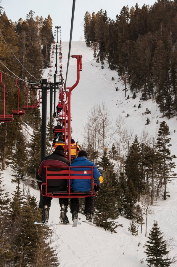 Riding the copper lift at Red River.