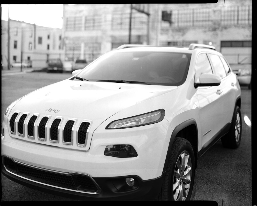 I have always liked the looks of these Jeep Cherokee's and especially the sleek headlights. I was needing to test my camera and get back in the swing of shooting 4x5 so grabbed this quick shot during an Oklahoma Film Photographers walk in downtown OKC.