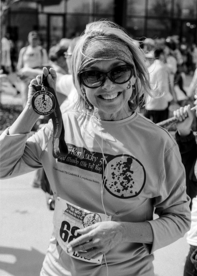 My lovely wife Kay after the race. She was coming down sick right before the race so was a bit slower than her times before. This was her first ever organized race.