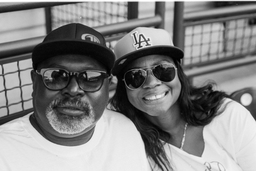 My good friend and client Tommy Bolton and his wife Shee at an OKC baseball game. I had forgotten that I had taken this picture last summer.