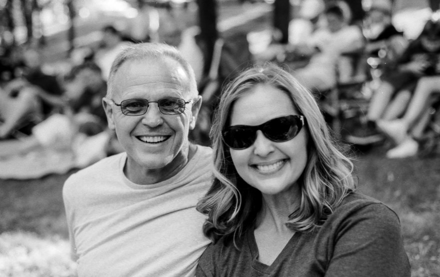 Garland Reese and his wife Melissa at a concert in Edmond's Hafer Park.