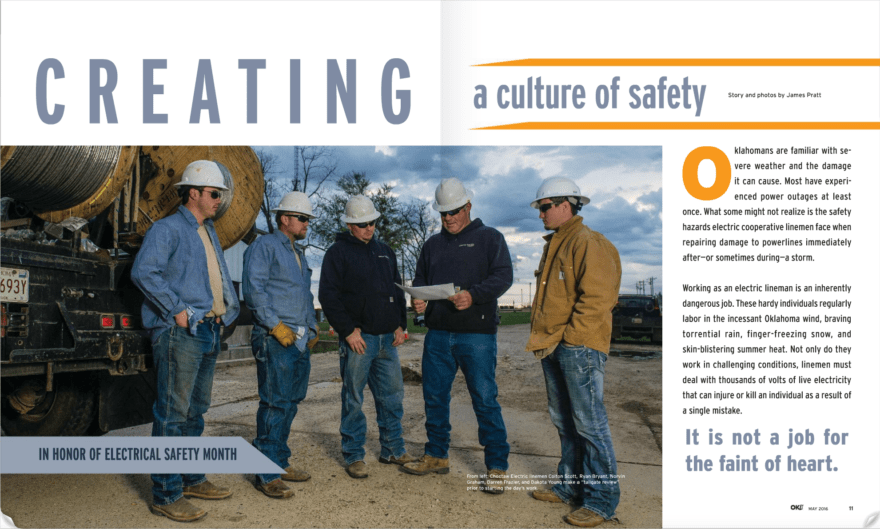 Oklahoma Living Creating a Culture of Safety story page 1