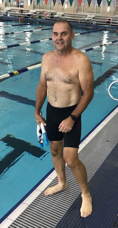 James Pratt of Edmond at the Mitch Park YMCA competitive swimming pool