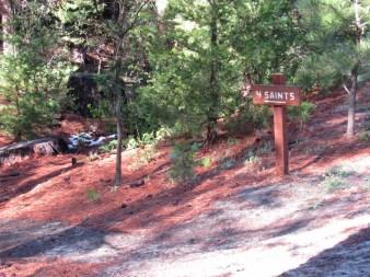 Trailhead for 4-Saints trail