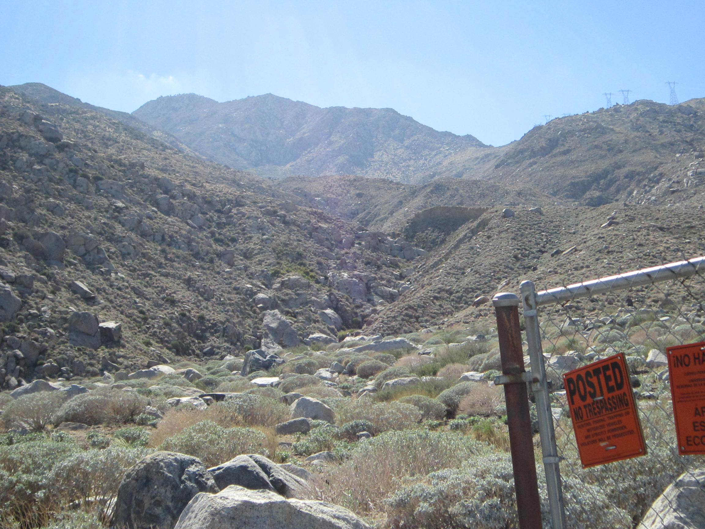 Looking up Lamb's Creek into Oasis de los Osos