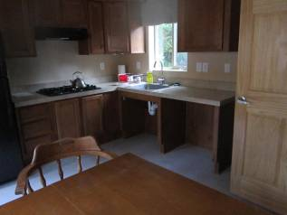 Kitchen facility in our dormitory cabins