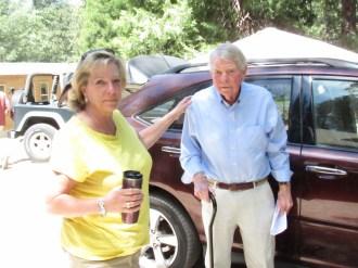 Trailfinder Em Sebenus and daughter Carrie arrive to the celebration