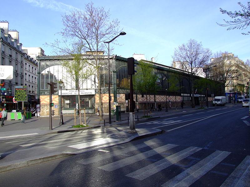 A good place to shop: Le marché Saint-Quentin, in Paris' 10th.