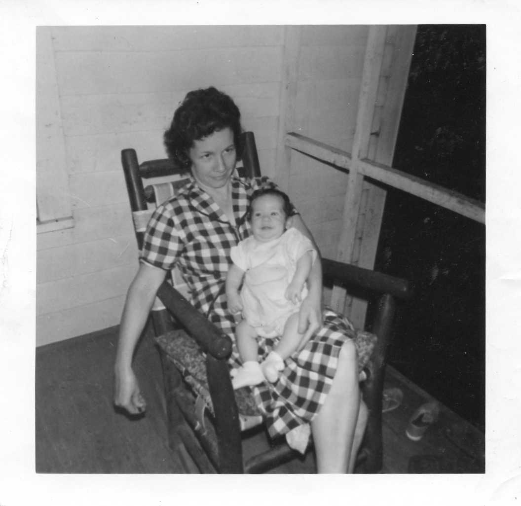 Ida Boyette and James Brock, her first grandson.