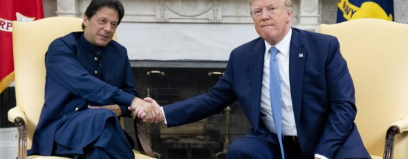 Trump shakes hands with Imran Khan, Pakistan's prime minister Macleans | James Alexander Michie