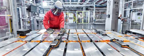 Battery packs are assembled inside Audi's e-tron factory in Brussels CNN Business | James Alexander Michie