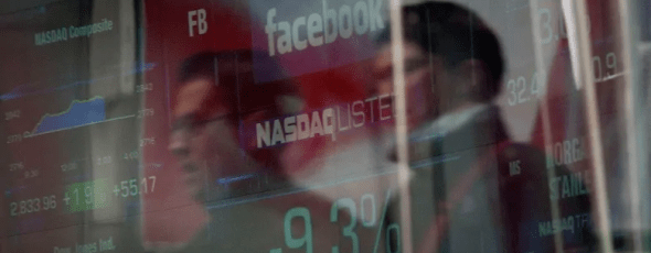 The share price for Facebook is displayed at the Nasdaq exchange in New York CBC News | James Alexander Michie