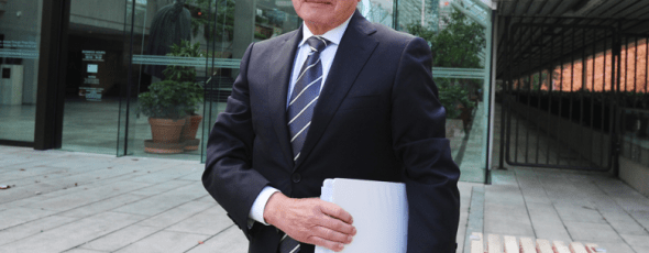 Dr. Brian Day outside B.C. Supreme Court National Post | James Alexander Michie
