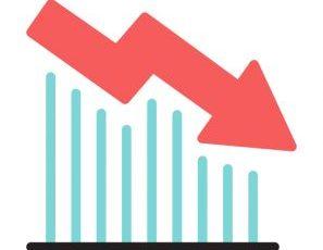 Graph Down Red Arrow The Spellman Report   James Alexander Michie