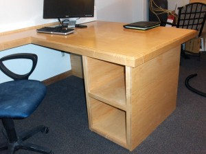 Custom Millwork Desk | Home Office | James Allen Builders