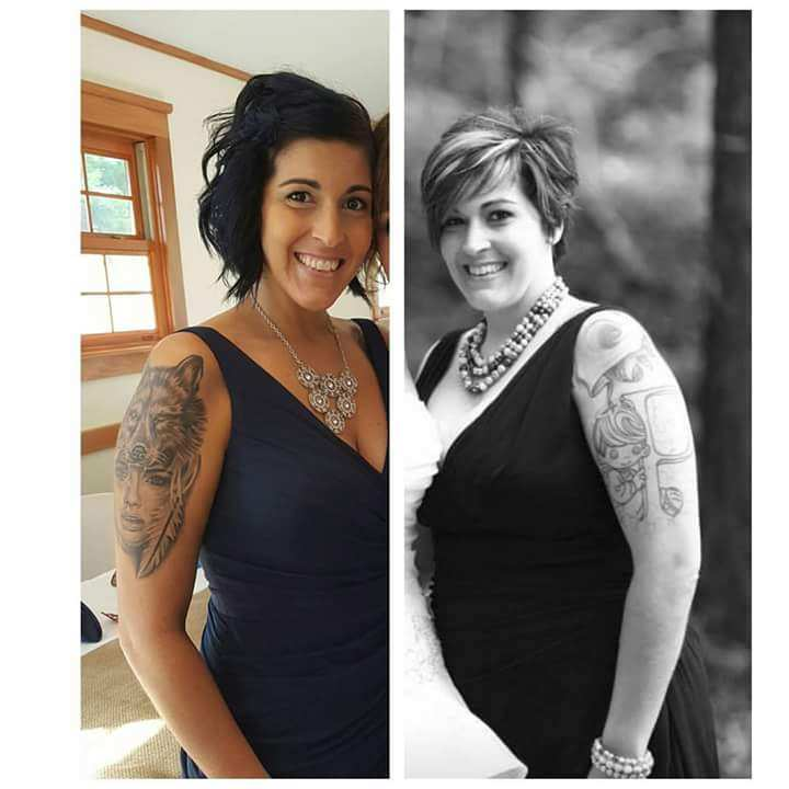 A woman image of before and after