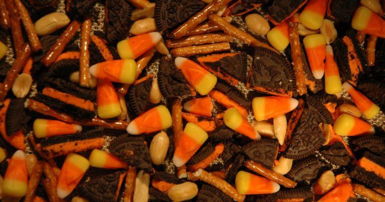 Halloween Cookie & Candy Corn Bark