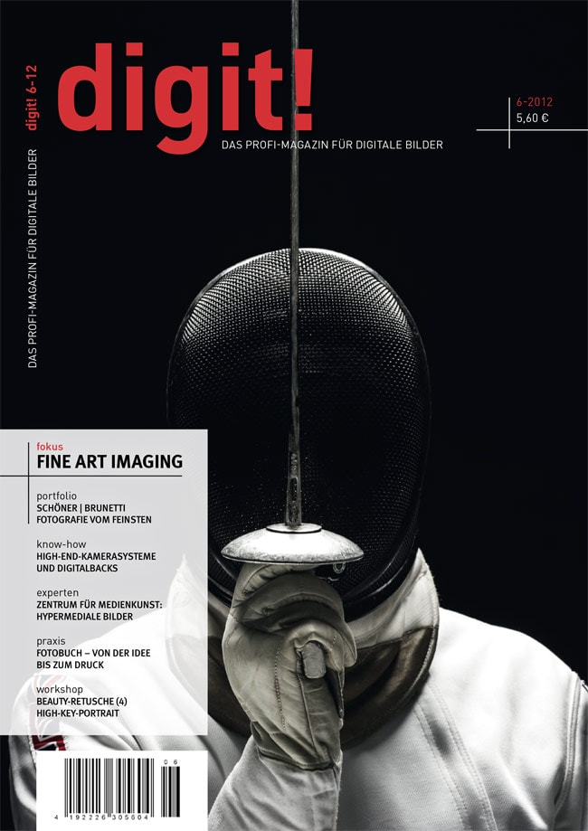 The Fencer on the cover of digit! magazing