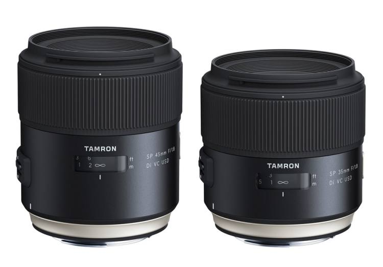 Tamron SP 35mm F/1.8 Di VC USD & SP 45mm F/1.8 Di VC USD