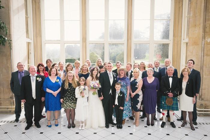 Stoke Rochford Hall Orangery group photo