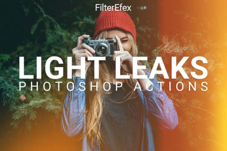 FilterEfex Light Leaks Photoshop Actions