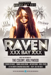 """Adult Star Raven Bay Hosts Colony LA"""