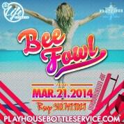 """Playhouse Fridays DJ BeeFowl event flyer 600x600"""