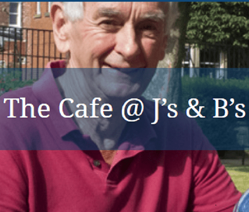 Cafe in the garden at J's and B's