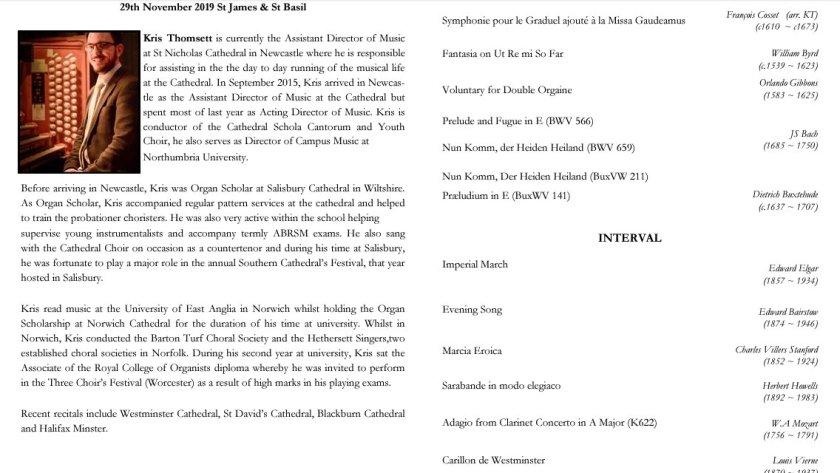 NDSO Organ recital