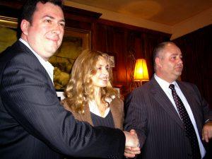 Deux présidents et une marraine, Maryam d'Abo, ravis