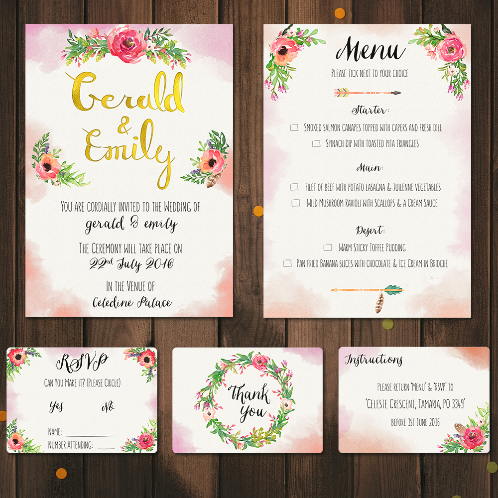 Wedding Invitations - James Butterly