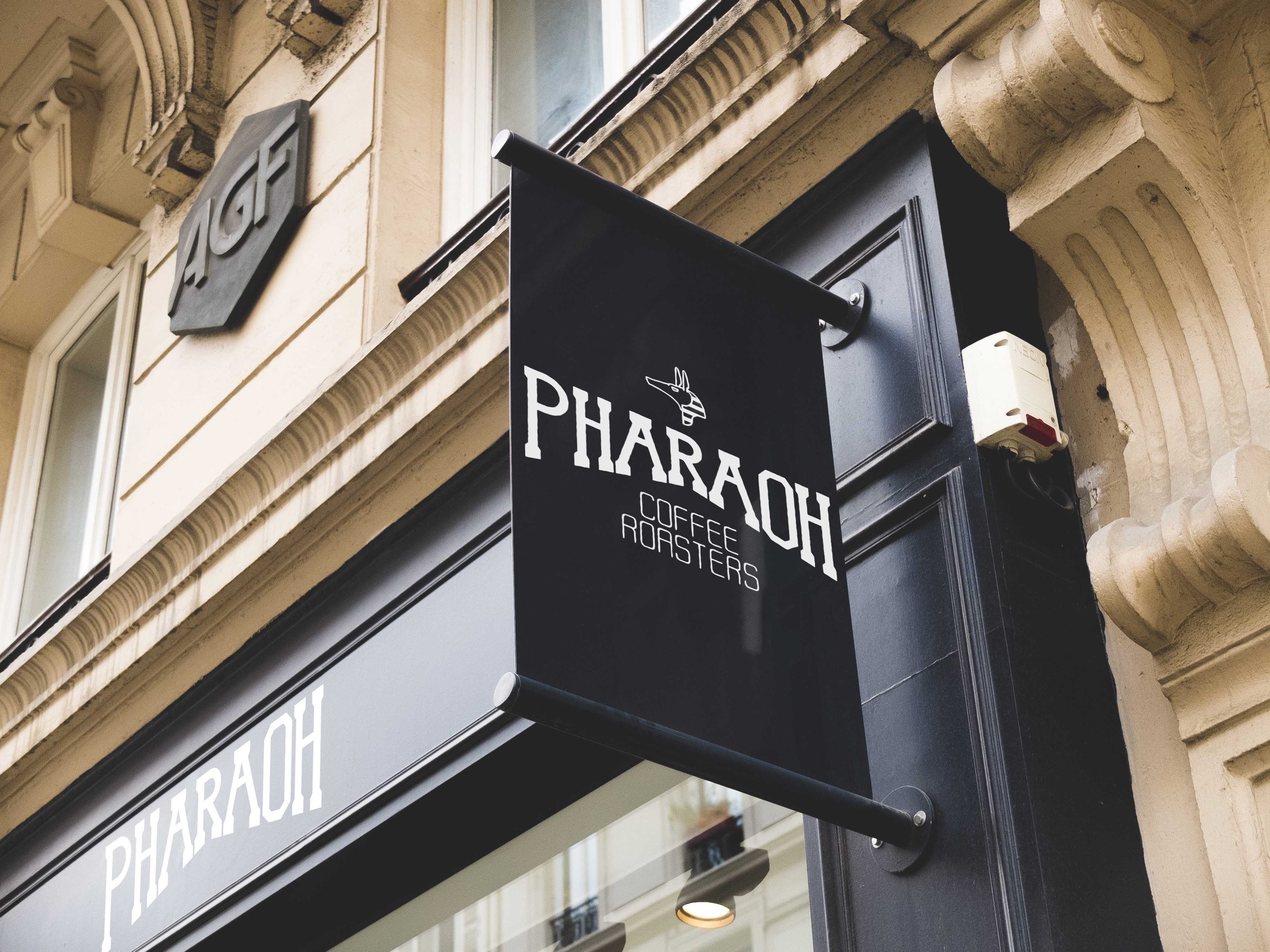Pharaoh Coffee Roasters Outdoor Signage