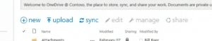 Close-up of the new command surface coming to SharePoint Online.