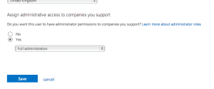 """Assign administrative access to companies you support"" permission"